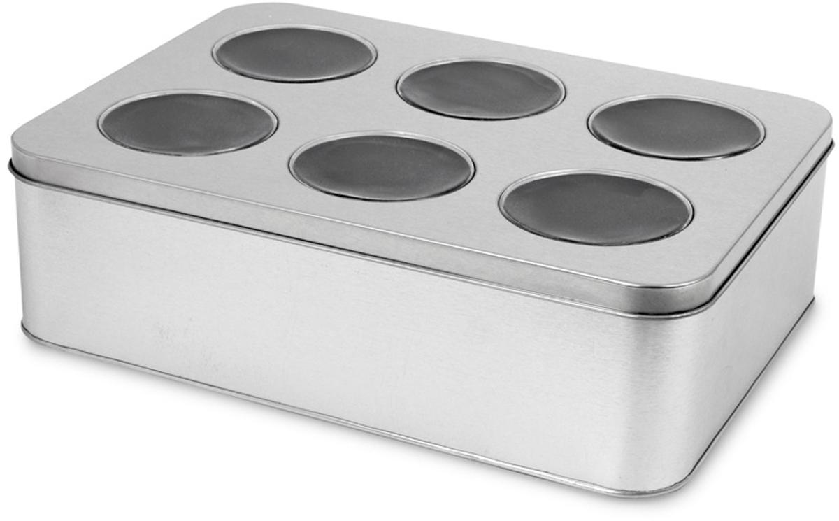 Бокс для часов Balvi On Time, цвет: серый металлик25804Бокс для часов On Time от испанского бренда Balvi отличается продуманной эргономикой. Он выполнен в прочном металлическом корпусе,который предотвратит любые повреждения. В нем можно хранить часы дома или брать с собой в поездку, благодаря небольшим габаритам.- Удобное и надежное место для хранения шести часов.- Разделение на шесть секций, отделанных мягким материалом. - Лаконичный металлический корпус и крышка с прозрачными отверстиями. - Оригинальное исполнение, подчеркивающее ценность аксессуаров.
