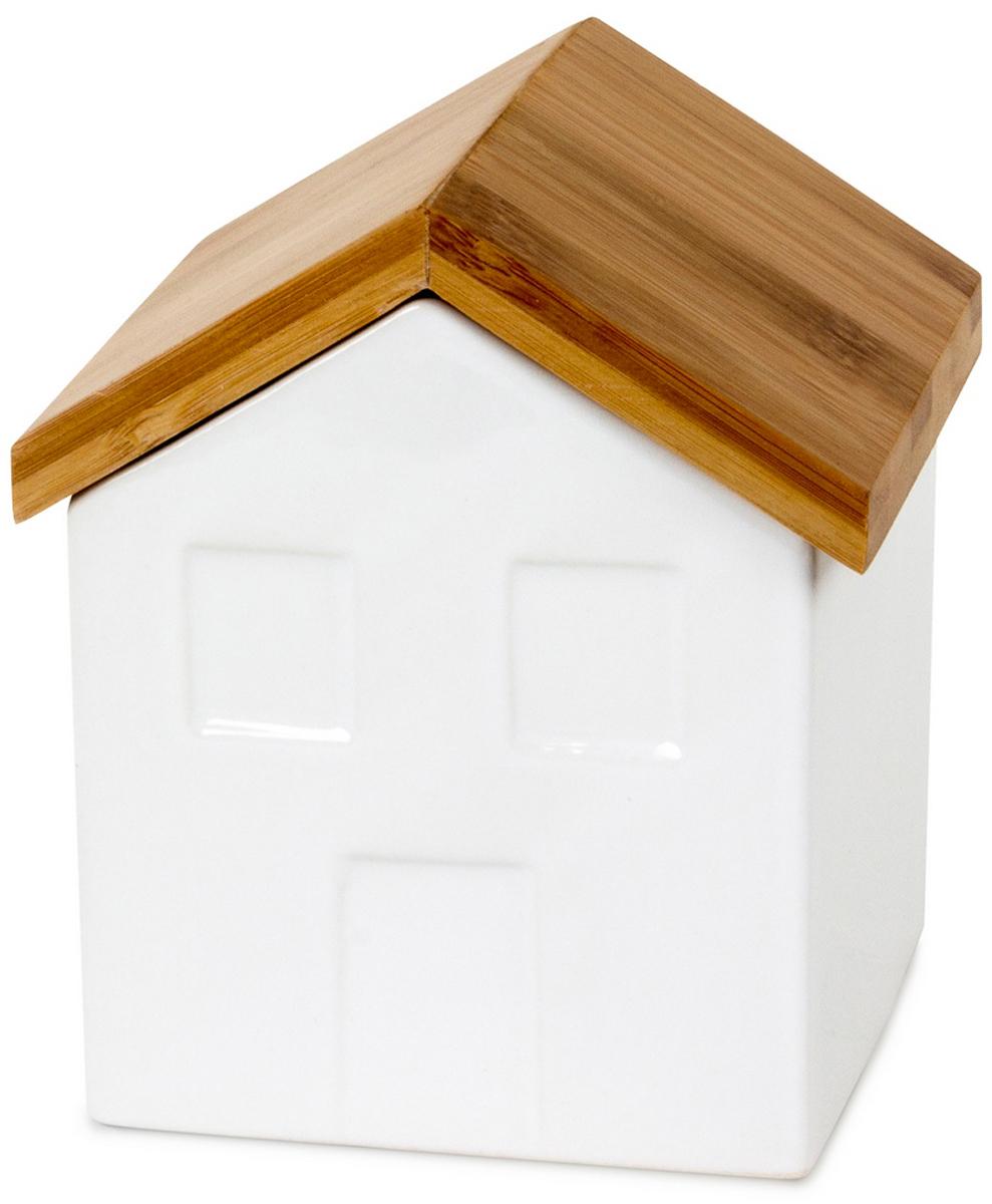 Солонка Balvi La Ville, цвет: белый25870La Ville - качественная солонка, изготовленная из белоснежной керамики с уникальным дизайном в виде милого деревенского домика. Это кухонное изделие станет отличным дополнением к другим, не менее функциональным и креативным вещам на вашей кухне. Солонка отлично смотрится как при ежедневной сервировке стола, так и во время праздничного застолья. Солонка подойдет под любой вид соли. Такая солонка станет отличным подарком для хозяйки, которая любит все необычное и стильное. - Оригинальный дизайн солонки в виде деревенского домика с деревянной крышей.- Солонка изготовлена из керамики, а крышка сделана из натурального дерева.- Солонка станет отличным дополнением для сервировки стола.