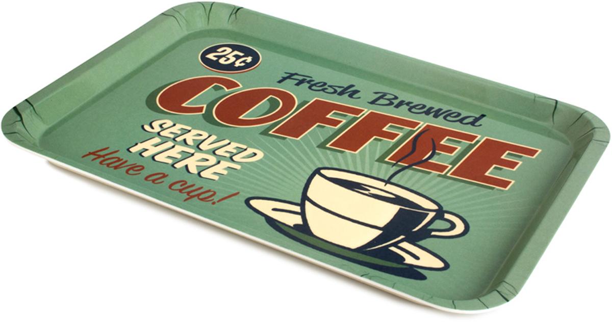 Поднос Balvi Best Coffee, цвет: зеленый25940Уникальный поднос Best Coffee станет необычным дополнением для любой кухни, кафе или ресторана. Поднос изготовлен из качественного и безопасного меламина. Яркие тона подноса вызывают восторг и восхищение. На подносе изображена чашечка горячего кофе, рядом с которой написано: Здесь подают свежезаваренный кофе. С помощью этого подноса можно удивить любимого человека, сделав ему приятный подарок в виде завтрака в постель. В этом случае поднос Best Coffee придется весьма кстати. - Поднос окрашен в яркие тона и имеет стильный дизайн.- Поднос изготовлен из безопасных материалов.- Станет отличным украшением кухни, кафе или ресторана.