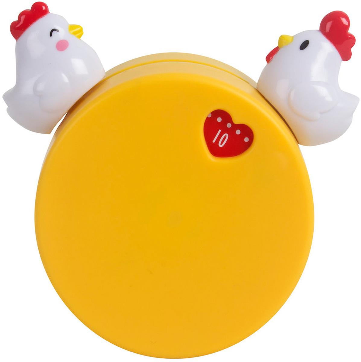 Таймер Balvi Love Story, механический, цвет: оранжевый25948Механический таймер Love Story словно специально создан для тех, кто ставит варить яйца и забывает, что это сделал. Он выполнен в виде невысокого цилиндра, наверху которого сидят и смотрят друг на друга влюбленными глазами курочка и петушок. При заведении таймера на определенное время они отдаляются друг от друга. А когда время подходит к концу, они словно сливаются в поцелуе. Поэтому таймер и получил название Love Story. Этот милый аксессуар замечательно впишется в любую кухонную обстановку и будет незаменимым помощником в приготовлении эксклюзивных блюд.- Изготовлен из пластика и металла.- Нестандартный дизайн.- Имеет магнит для крепления к металлической поверхности.