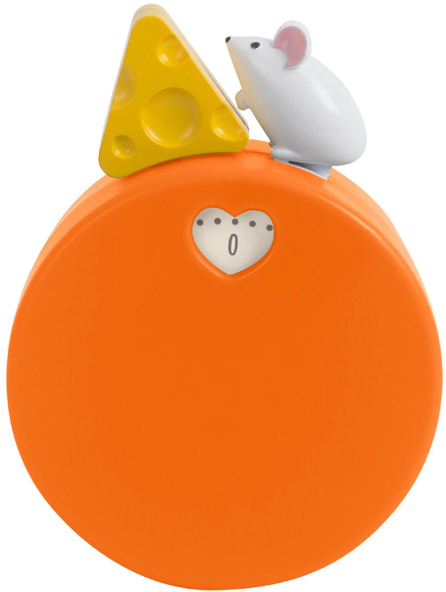 Таймер Balvi My Cheese, механический, цвет: оранжевый25949Механический таймер My Cheese пригодится любой хозяйке на кухне. Когда на нем тикает время, можно наблюдать, как мышка бежит за кусочком сыра. Таймер можно использовать не только на кухне, но и для многого другого в повседневной жизни. Для женщин важно всегда выглядеть привлекательно, но маски для лица или рук нельзя держать больше определенного времени. Достаточно поставить таймер на нужный временной отрезок и можно не переживать, что полезная маска окажет вредное воздействие на кожу.- Изготовлен из пластика и металла.- Оригинальный дизайн в виде мышки, бегающей за сыром.- Имеет магнит для крепления к металлической поверхности.