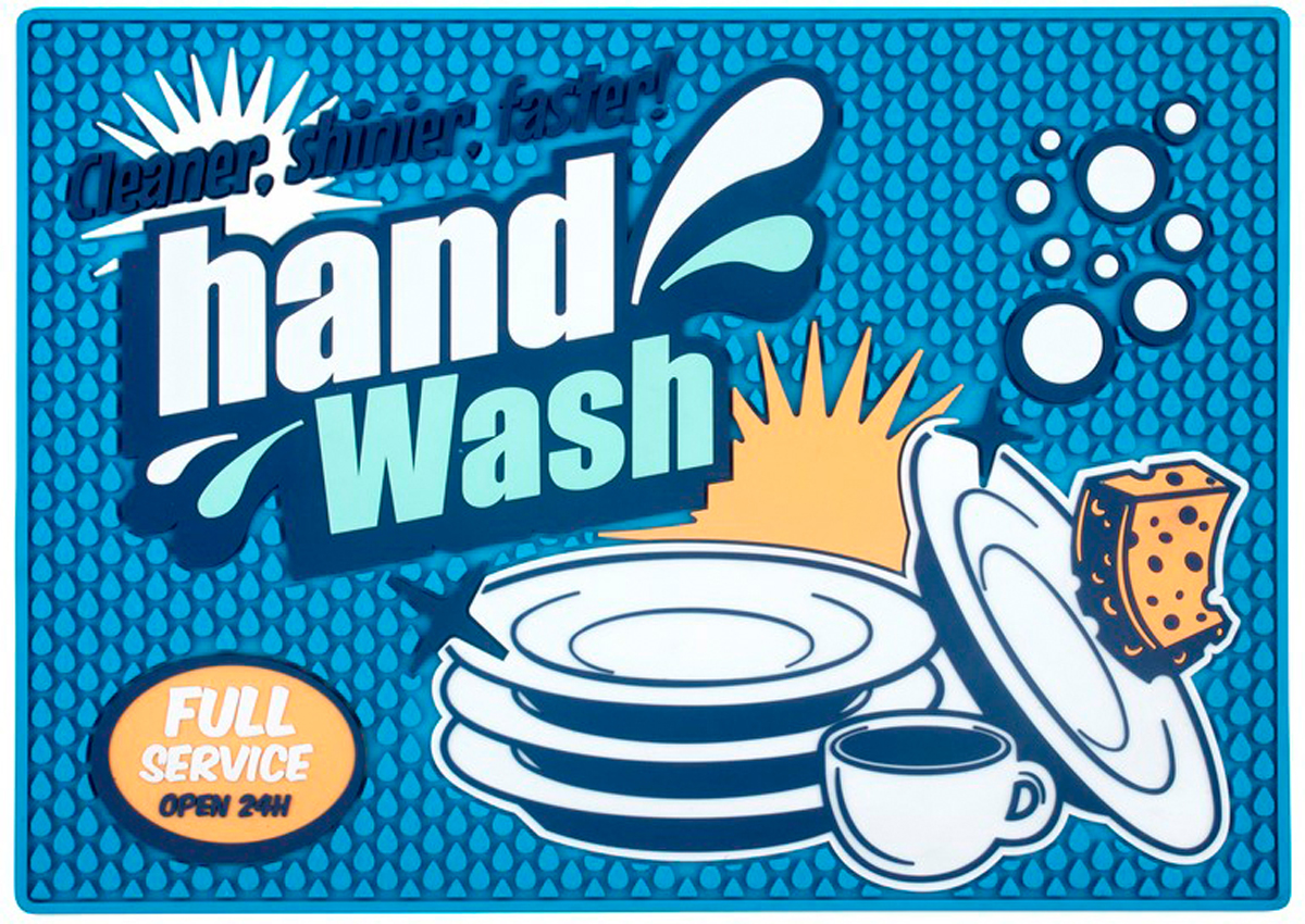 Коврик для сушки посуды Balvi Cleaner, цвет: синий25951Коврик для сушки посуды Balvi изготовлен из ПВХ. Он подходит для размещения как фужеров, так и тарелок или столовых предметов. Благодаря его нескользящей поверхности, он не будет съезжать со стола. Также такой коврик препятствует распространению воды. Его легко сложить, и он не займет много места на кухне в процессе хранения.- Долговечен и практичен.- Допустима автоматическая стирка. - Мягкая текстура коврика защищает хрупкую посуду от повреждений