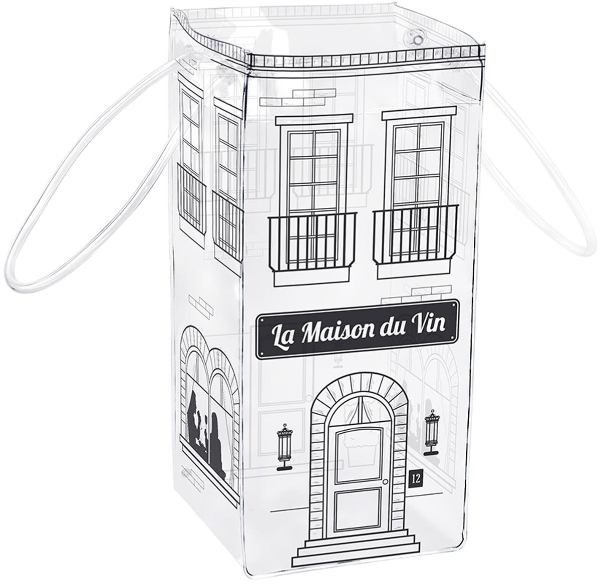 Сумка для охлаждения бутылок Balvi La Maison Du Vin, цвет: прозрачный26129Для тех, кто любит употреблять охлажденные напитки, прекрасно подойдет сумка для охлаждения бутылок La Maison Du Vin. Ее удобно брать с собой, так как у нее есть ручки. Для охлаждения напитка достаточно засыпать в нее лед и поставить туда бутылку. Эта сумка подходит для вина, шампанского и других более крепких напитков. Пока вы едете в свой выходной на отдых, бутылка в этой сумке будет охлаждаться. Особенно это актуально в летнюю жару, если вы любите отдыхать на пляже, на рыбалке или просто красивом живописном месте. - Удобные ручки для переноски.- Универсальна, подходит для охлаждения любых напитков.- Проста в использовании - нужно засыпать лед и поставить бутылку.