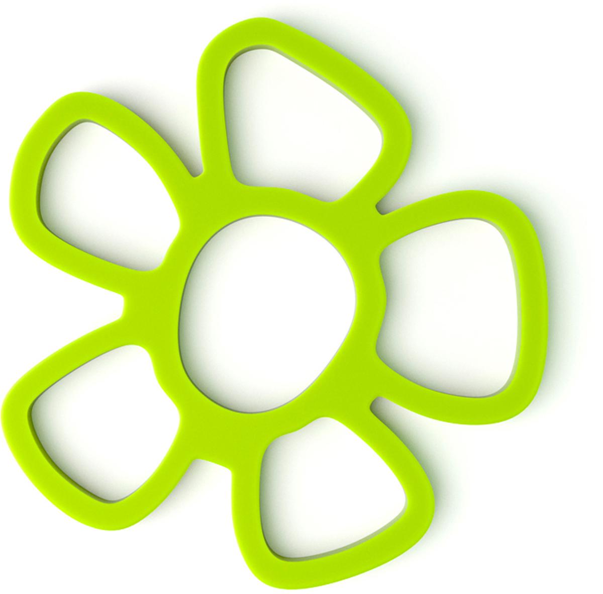 Подставка под горячее Balvi Daisy, магнитная, цвет: зеленый26178Многофункциональная магнитная подставка Daisy пригодится на кухне любой хозяйке. Она выполнена из силикона. Прикрепив подставку к металлической поверхности, вы можете разместить на ней горячие кухонные предметы - чашки, кастрюли, сковородки. Благодаря магниту подставка отлично крепится к металлической поверхности и не скользит по ней. Плюс ко всему, подставка может послужить отличным украшением на кухне. Стильная зеленая подставка под горячее Daisy облегчит жизнь любой хозяйке, а заодно поднимет настроение своим ярким и позитивным дизайном в виде цветка.- Подставка крепится к металлической поверхности с помощью магнита.- Яркий и привлекательный дизайн в виде цветка.- Можно использовать под горячие кастрюли, чайник, сковородки и т.п.