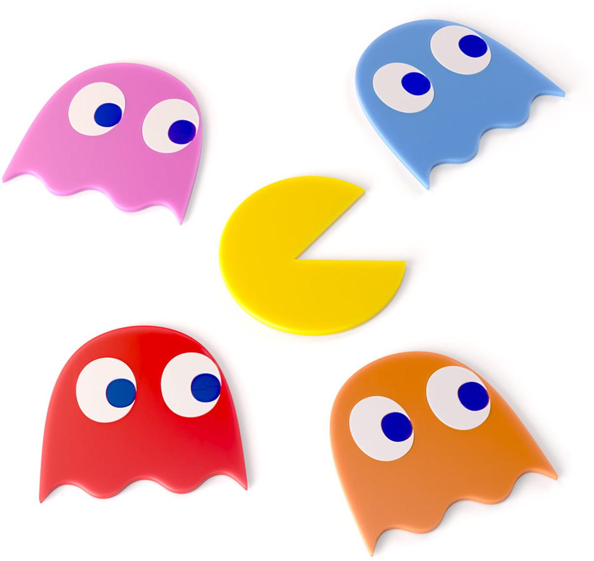 Подставка под стаканы Balvi Pac-Man, 5 шт26499Милые забавные подставки под стаканы Pac-Man изготовлены в виде героев одноименной игры. В комплект входит 5 штук - это 4 приведения разного цвета, и непосредственно главный герой Pac-Man, так что подставок вполне хватит на всю семью. Ими удобно пользоваться, они изготовлены из ПВХ, поэтому долговечны, выдержат огромное количество моек любым средством. На столе они не будут скользить, поэтому можно не переживать, что ребенок случайно опрокинет компот. Такие подставки подойдут как под обычные чашки, так и под изящные стаканы.- В комплекте 5 штук.- Не требуют особого ухода - моются любым средством.- Подходят под любые стаканы и чашки.