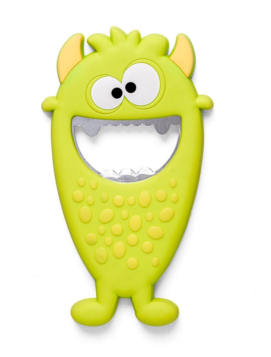 Открывалка Balvi Monster, цвет: зеленый26584Открывалка Monster выполнена в ярком бирюзовом цвете. По своему внешнему виду она напоминает забавного монстра из мультфильма, который поднимает настроение, достаточно только взглянуть на него. С ее помощью можно легко и быстро открыть бутылку с прохладительными напитками. А магнит позволит закрепить открывалку на холодильнике или любой другой металлической поверхности.- Необычное и забавное оформление открывалки для бутылок.- Прочный металл и силиконовое покрытие монстра.- Легко крепится к металлической поверхности с помощью магнита.- Компактные размеры, высокая прочность и долговечность.