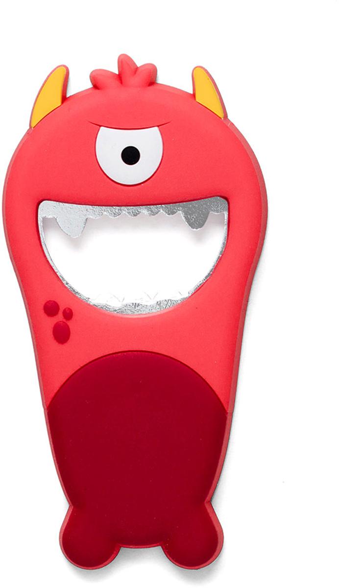 Открывалка Balvi Monster, цвет: красный26585Открывалка Monster выполнена в ярком бирюзовом цвете. По своему внешнему виду она напоминает забавного монстра из мультфильма, который поднимает настроение, достаточно только взглянуть на него. С ее помощью можно легко и быстро открыть бутылку с прохладительными напитками. А магнит позволит закрепить открывалку на холодильнике или любой другой металлической поверхности.- Необычное и забавное оформление открывалки для бутылок.- Прочный металл и силиконовое покрытие монстра.- Легко крепится к металлической поверхности с помощью магнита.- Компактные размеры, высокая прочность и долговечность.