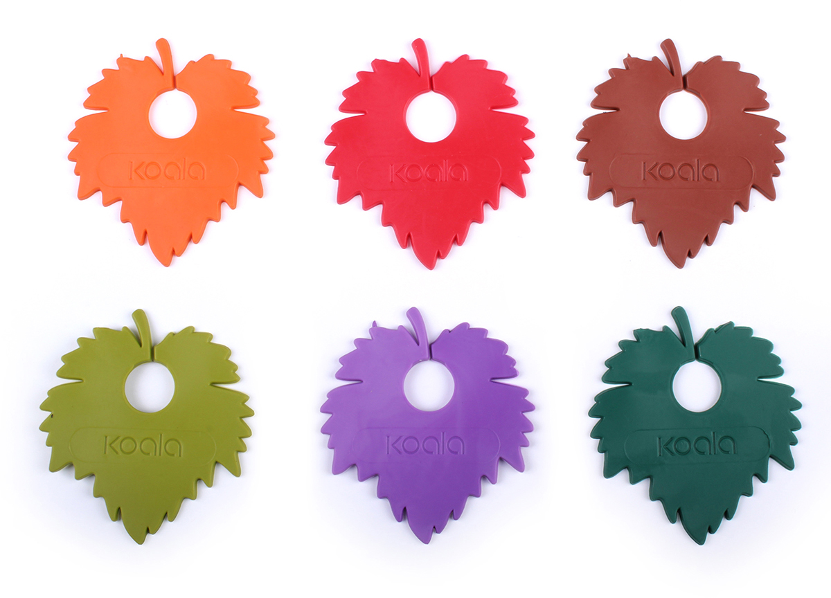 Маркеры для бокалов Koala Wine Leaf, 6 шт