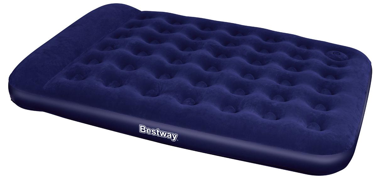 Bestway Матрас надувной Queen, со встроенным ножным насосом, 203 х 152 х 28 см надувная кровать bestway 67486 foamtop comfort raised airbed queen 203х152х46см со встроенным насосом мягкий верх