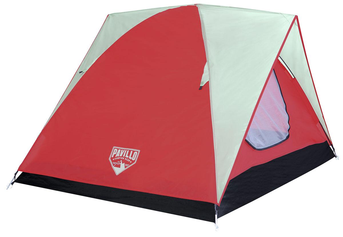 Bestway Палатка Woodlands X2 Tent, 2-местная68042Двухслойная палатка Bestway Woodlands X2 Tent изготовлена из полиэстера 170Т с полиуретановым покрытием PU600m. Дно палатки выполнено из полиэтилена плотностью 110 г/м2. Модель имеет 2 двери, что обеспечивает отличную вентиляцию. На входе имеется плотная дверь с антимоскитной сеткой. Внутри палатки расположен небольшой карман для хранения мелочей. Изделие имеет съемную крышу, которая пригодится как в жаркий, так и в дождливый день. Палатку просто собирать и разбирать, а также удобно переносить благодаря малому весу и небольшим размерам в собранном виде. Палатка рассчитана на 2 взрослых. Легко чистится мягкой сухой губкой, естественная сушка. Размер: 200 х 140 х 110 см.
