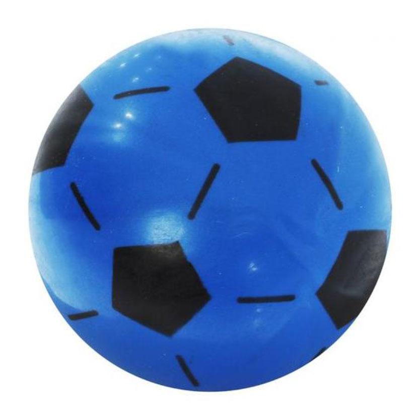 Забияка Мяч Футбольный цвет синий 20 см