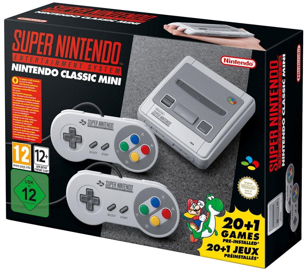 Nintendo Classic Mini: SNES, Gray стационарная игровая приставка 045496343354