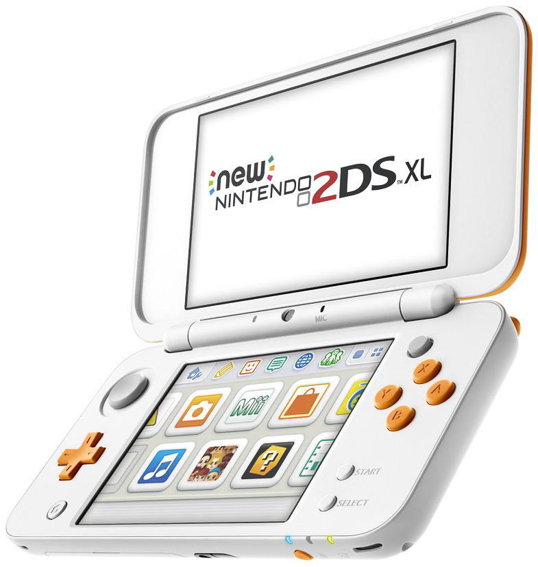 New Nintendo 2DS XL, White Orange портативная игровая приставка protective fabric pouch for nintendo dsi black