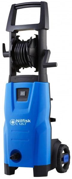 Минимойка Nilfisk C 125.7-6128470951Минимойка Nilfisk E 150.1-10 H X-TRA предназначена для очистки автомобилей и удаления грязи на любых площадях. Она обладает высокой мощностью и производительностью. Благодаря наличию системы CLICK&CLEAN насадки легко и быстро заменяются. Для удобства пользователя пистолет машины оснащен мягкой рукояткой.Технические характеристики:Мощность: 1,5 кВт. Производительность: 460 л/ч. Длина шланга: 6 м. Maксимальное давление воды: 125 бар. Длина кабеля: 5 м. Maксимальная температура воды на входе: 40°С.Комплектация: - Бытовая мойка высокого давления; - Шланг высокого давления - 1 шт; - Пистолет - 1 шт; - Сопло Tornado PR - 1 шт; - Сопло Powerspeed - 1 шт; - Копье - 1 шт; - Пенная насадка - 1 шт.Как выбрать мойку высокого давления. Статья OZON Гид
