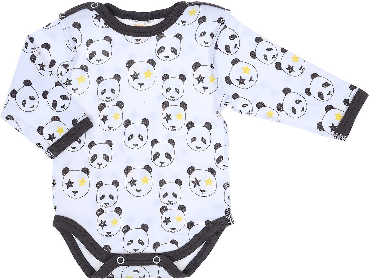 Боди детское КотМарКот Панда Rock, цвет: светло-бежевый, черный. 9226. Размер 62 игровой набор наша игрушка турист 4 предмета 100909847