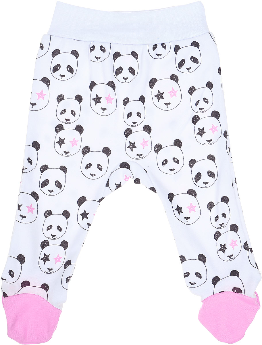 Ползунки для девочки КотМарКот Панда Rock, цвет: светло-бежевый, розовый. 5125. Размер 685125Удобные ползунки с закрытыми ножками КотМарКот Панда Rock изготовлены из интерлока и оформлены принтом с изображением панд. Модель стандартной посадки на поясе имеет широкую эластичную резинку, которая плотно облегает, но не сдавливает животик ребенка.Материал ползунков мягкий и тактильно приятный, не раздражает нежную кожу ребенка и хорошо пропускает воздух. Изделие полностью соответствует особенностям жизни ребенка в ранний период, не стесняя и не ограничивая его в движениях.