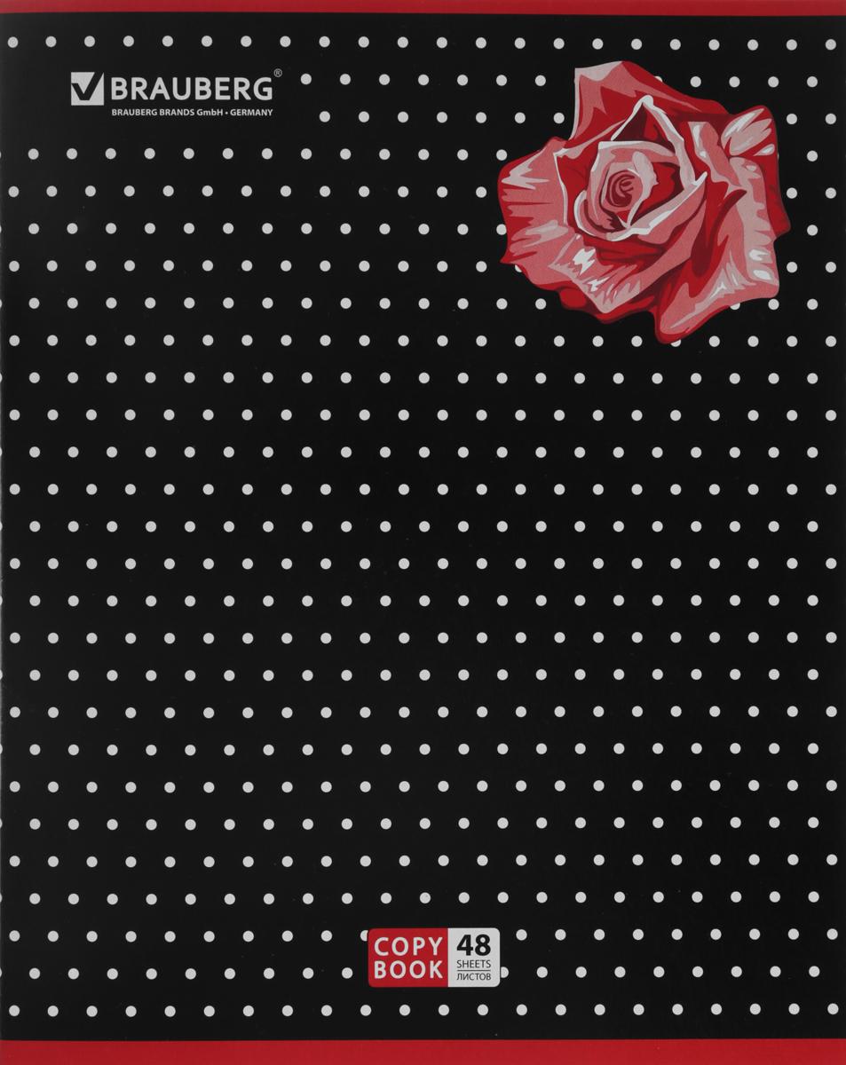 Brauberg Тетрадь Stylish Роза 48 листов в клетку401822_розаТетрадь Brauberg Stylish для учебы и работы.Обложка, выполненная из плотного картона, позволит сохранить тетрадь в аккуратном состоянии на протяжении всего времени использования.Внутренний блок тетради, соединенный металлическими скрепками, состоит из 48 листов белой бумаги. Стандартная линовка в клетку голубого цвета дополнена полями.