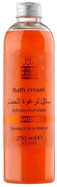 Milla Halal Cosmetics Mandarin Пена для ванны, 250 мл увлажняющий крем для ног с маслами жожоба и календулы mandarin milla halal cosmetics