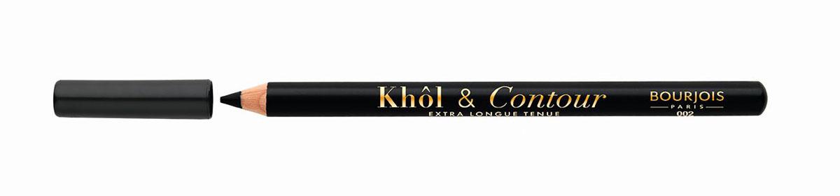 Bourjois Карандаш для глаз контурный Khol & Contour, Тон №00229105333002Мягкая текстура, насыщенные пигментированные оттенки. Стойкость до 16 часов. Подходит для чувствительных глаз благодаря витамину Е и экстракту зеленого чая.