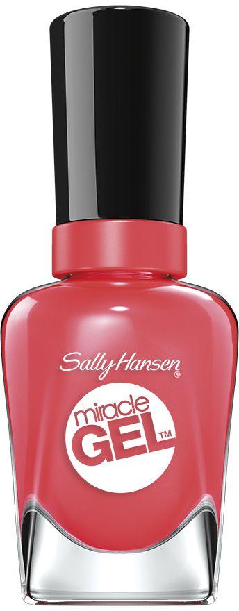 Sally Hansen Гель-Лак для ногтей Miracle Gel, Тон №131 Coral Carnival, 14 мл гель лак для ногтей sally hansen miracle gel 434 цвет 434 poppy patch variant hex name e82d3a