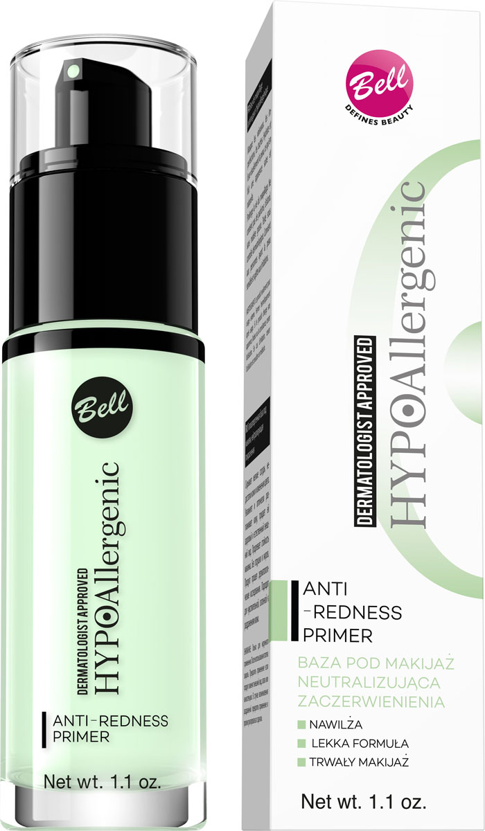 Bell Hypoallergenic База под макияж, нейтрализующая покраснения гипоаллергенная Anti-redness Primer, Тон №01, 30 млBbmnHA001