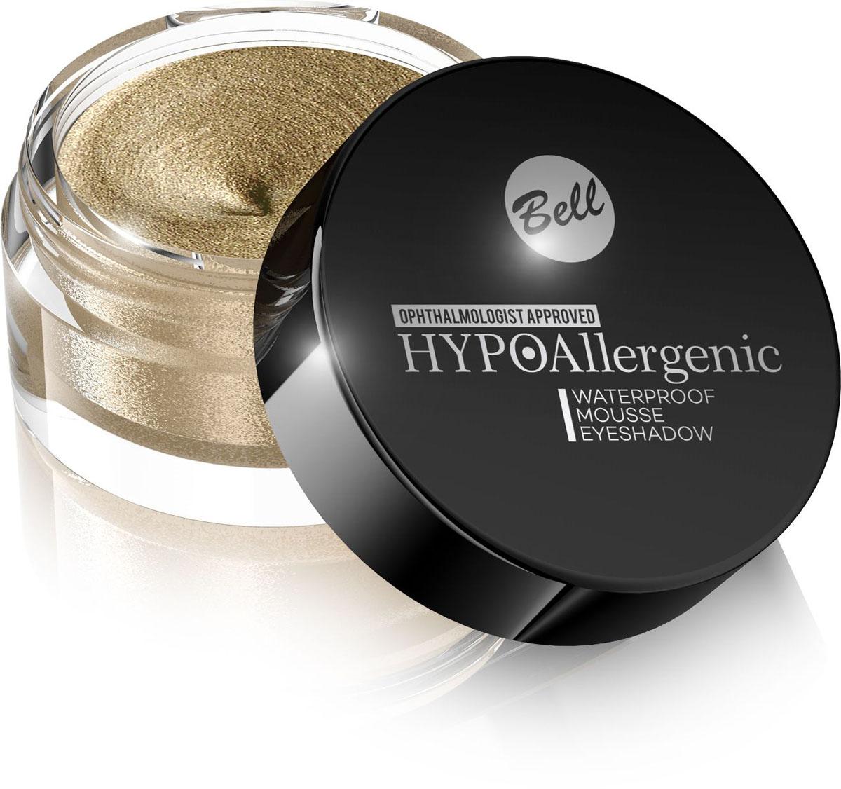 Bell Hypoallergenic Кремовые тени для век Waterproof Mousse Eyeshadow, Тон №02, 23 млBcmHA002