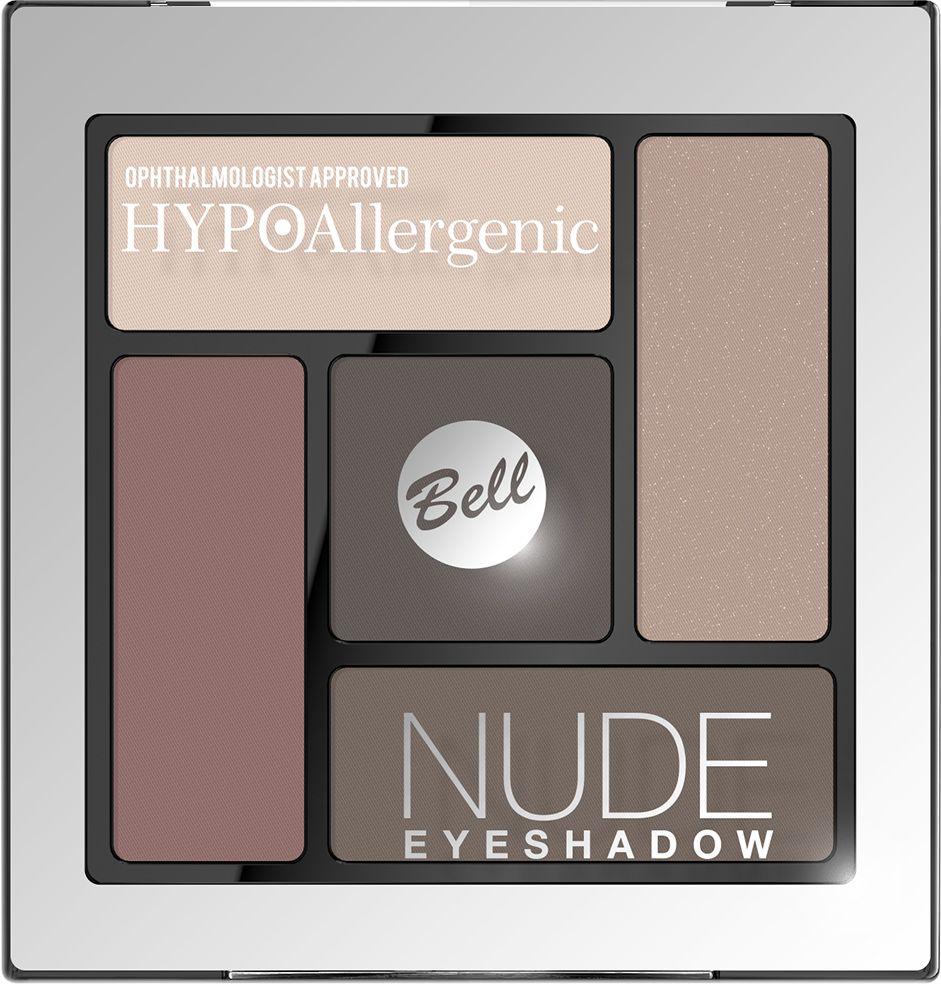 Bell Hypoallergenic Тени для век сатиново-кремовые Nude Eyeshadow, Тон №01BcnHA001