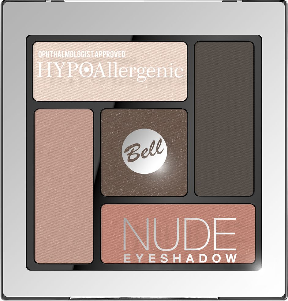 Bell Hypoallergenic Тени для век сатиново-кремовые Nude Eyeshadow, Тон №03BcnHA003