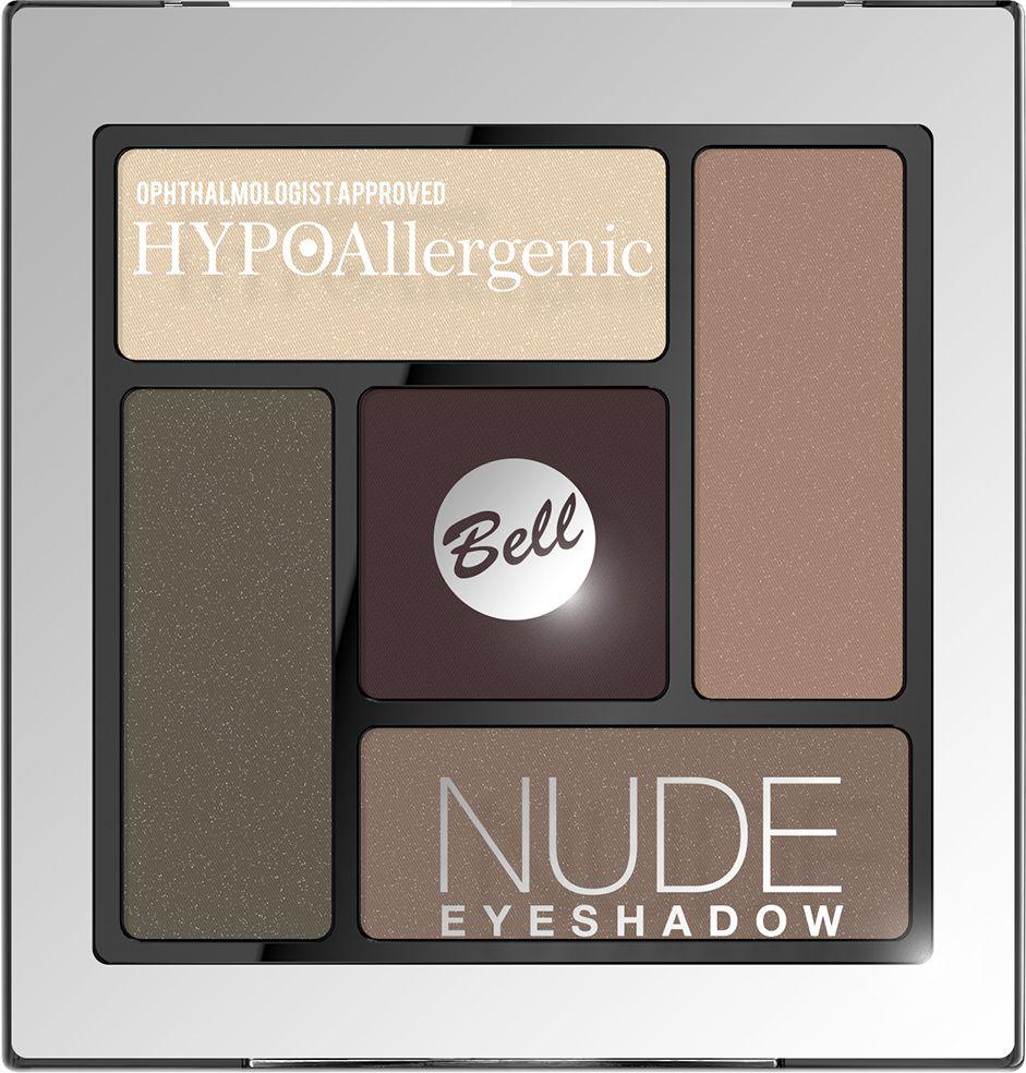 Bell Hypoallergenic Тени для век сатиново-кремовые Nude Eyeshadow, Тон №04BcnHA004