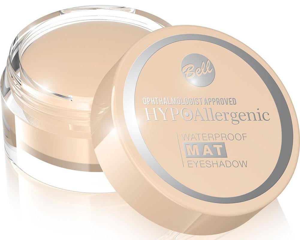 Bell Hypoallergenic Тени для век, водостойкие, матовые Waterproof Mat Eyeshadow, Тон №01BcwmHA001