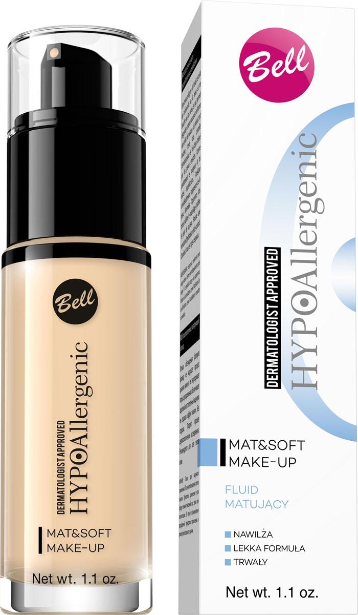 Bell Hypoallergenic Флюид матирующий гипоаллергенный Mat&soft Make-up, Тон №02, 30 млBflHA002v2Воздушная, обезжиренная структура крема придает коже легкость и не забивает поры. Оставляет чувство гладкой, естественной кожи без эффекта маски. Уменьшает видимость пор, маскирует покраснения и другие недостатки. Придает коже матовый вид.