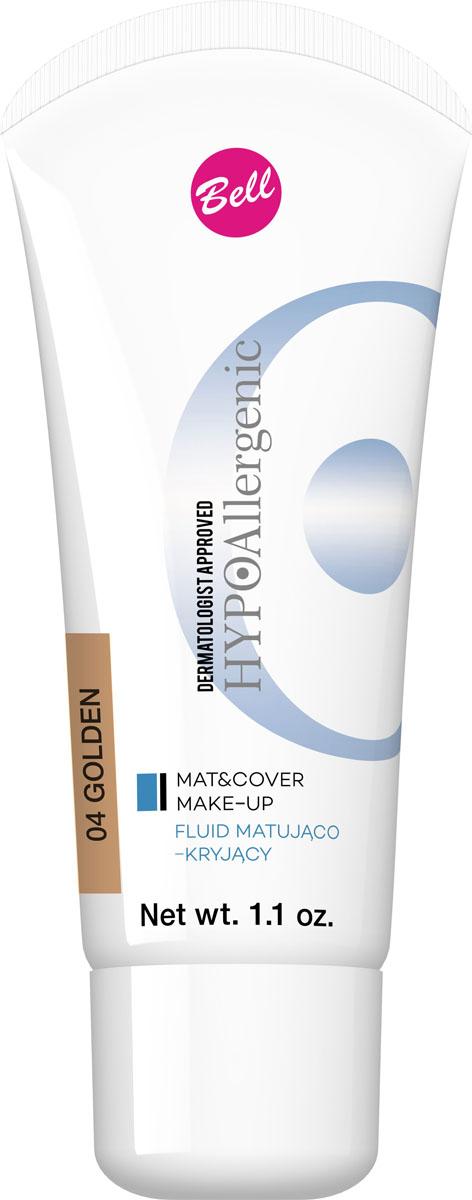 Bell Hypoallergenic Флюид матирующий, Тональный гипоаллергенный Mat&cover Make-up, Тон №04, 30 млBflmcHA004