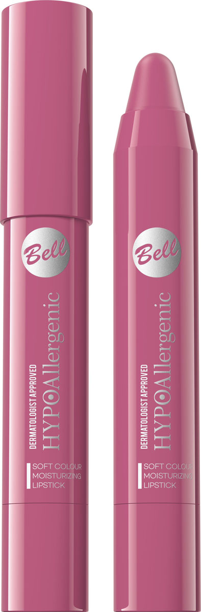 Bell Hypoallergenic Помада-карандаш для губ Soft Colour Moisturizing Lipstick, Тон №02BposHA002
