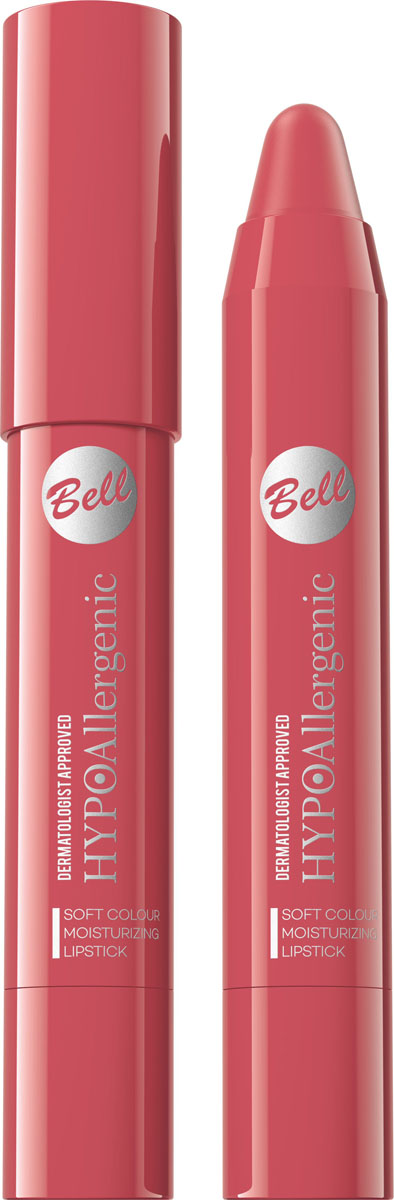 Bell Hypoallergenic Помада-карандаш для губ Soft Colour Moisturizing Lipstick, Тон №04BposHA004