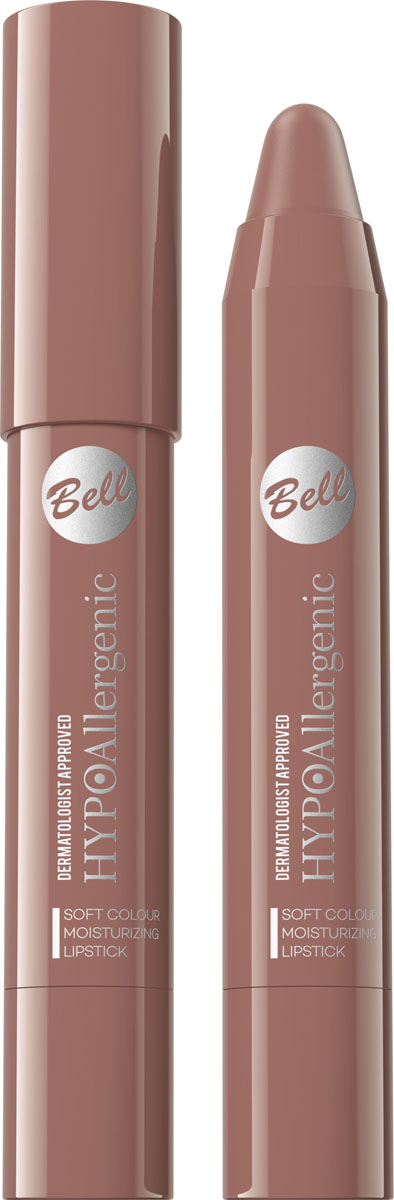 Bell Hypoallergenic Помада-карандаш для губ Soft Colour Moisturizing Lipstick, Тон №06BposHA006