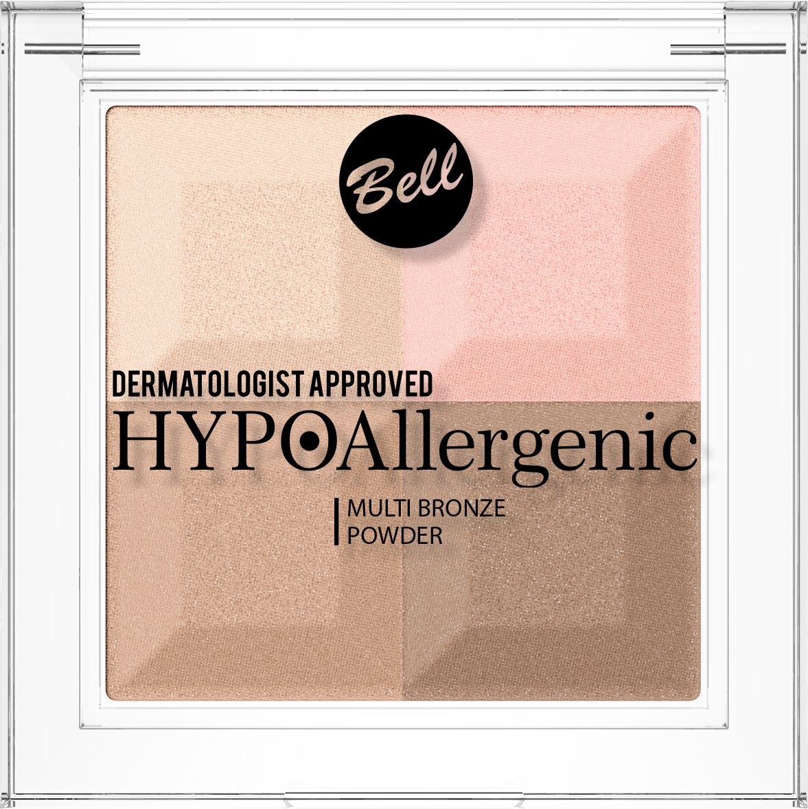 Bell Hypoallergenic Пудра с бронзирующим и осветляющим эффектом Multi Bronze Powder, Тон №02BprmbHA002