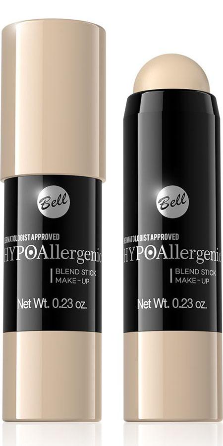 Bell Hypoallergenic Флюид-карандаш, интенсивно скрывающий недостатки Blend Stick Make-Up, Тон №01