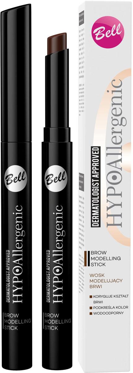 Bell Hypoallergenic Воск для бровей моделирующий, гипоаллергенный Brow Modelling Stick, Тон №01, 4 мл sothys modelling wax моделирующий воск 700 мл