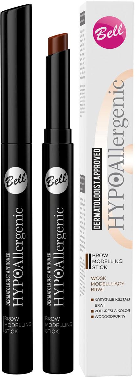 Bell Hypoallergenic Воск для бровей моделирующий, гипоаллергенный Brow Modelling Stick, Тон №02, 4 млBwbHA002