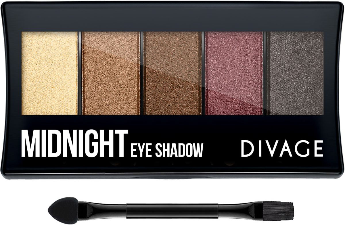 Divage Палетка теней для век Palettes Eye Shadow - Midnight sleek makeup палетка теней quattro eye shadow 2 оттенка палетка теней quattro eye shadow midnight blues тон 332