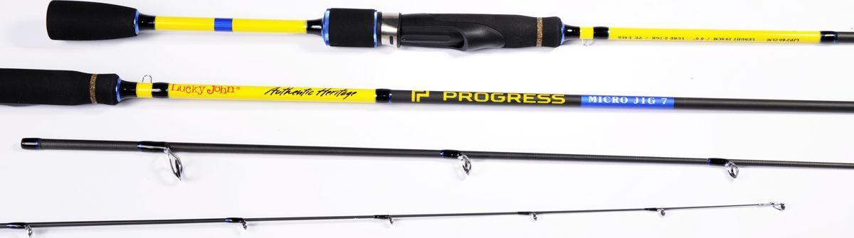 Удилище спиннинговое Lucky John Progress Micro Jig, штекерное, 2-7 г, 2,12 м удилище lucky john c tech trout 60см