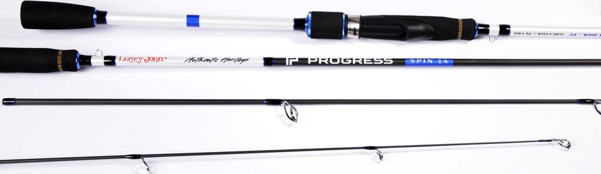 Удилище спиннинговое Lucky John Progress Spin, штекерное, 4-14 г, 2,13 м удилище lucky john c tech trout 60см