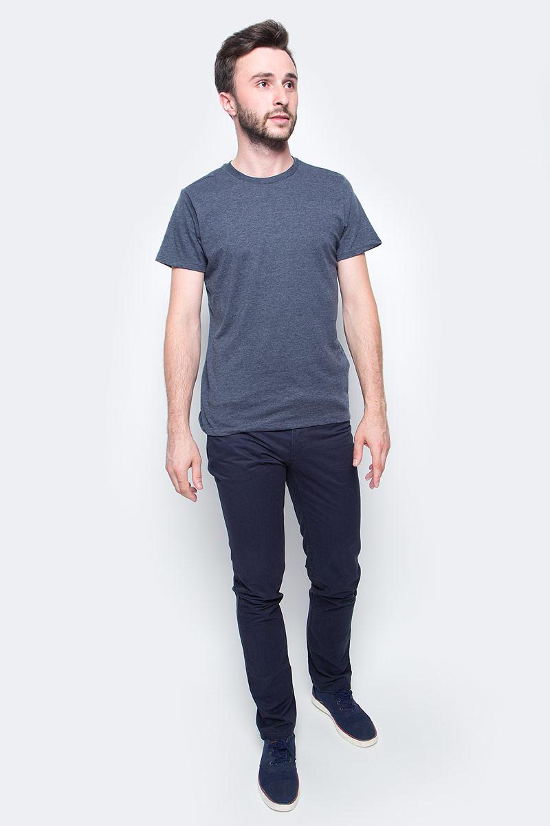 Футболка мужская Sela, цвет: синий меланж. Ts-211/276-7340. Размер XS (44)Ts-211/276-7340Мужская базовая футболка Sela изготовлена из хлопка с добавлением полиэстера. Модель полуприлегающего силуэта имеет стандартную длины, круглый вырез горловины и короткие рукава. Легкая и комфортная футболка удобна в носке.