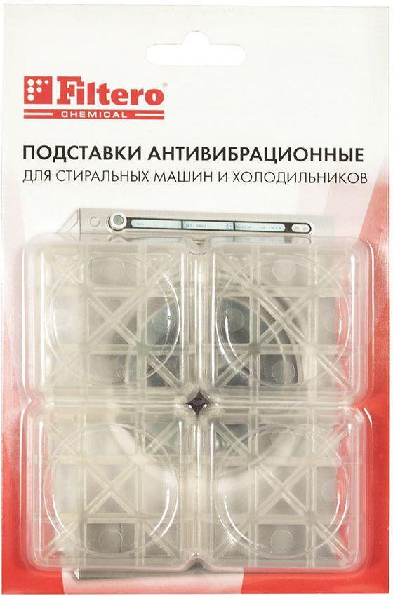 Filtero 901 подставки для стиральных машин и холодильников антивибрационные901Антивибрационные подставки Filtero предназначены для отдельно стоящих стиральных машин и холодильников. Используются для поглощения вибрации при установке бытовой техники на керамическую плитку, деревянные полы и другие виды покрытий. Защищает напольное покрытие от вмятин и разрывов.Высота амортизирующего слоя и специальный полимерный материал предотвращают скольжение стиральных машин в режиме отжима, а так же существенно сокращают возможные вибрацию и шумы.Для эффективной работы подставки рекомендуется менять не реже 1 раза в год.В упаковке 4 подставки.