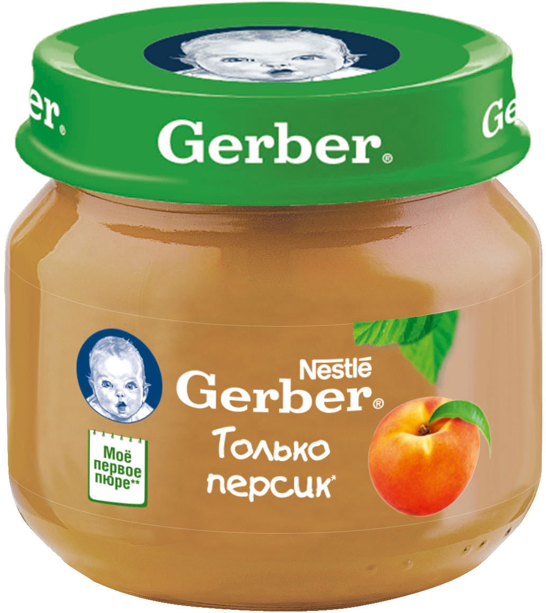 Gerber пюре персик, 80 г пюре gerber пюре лакомство по итальянски с 10 мес 200 г