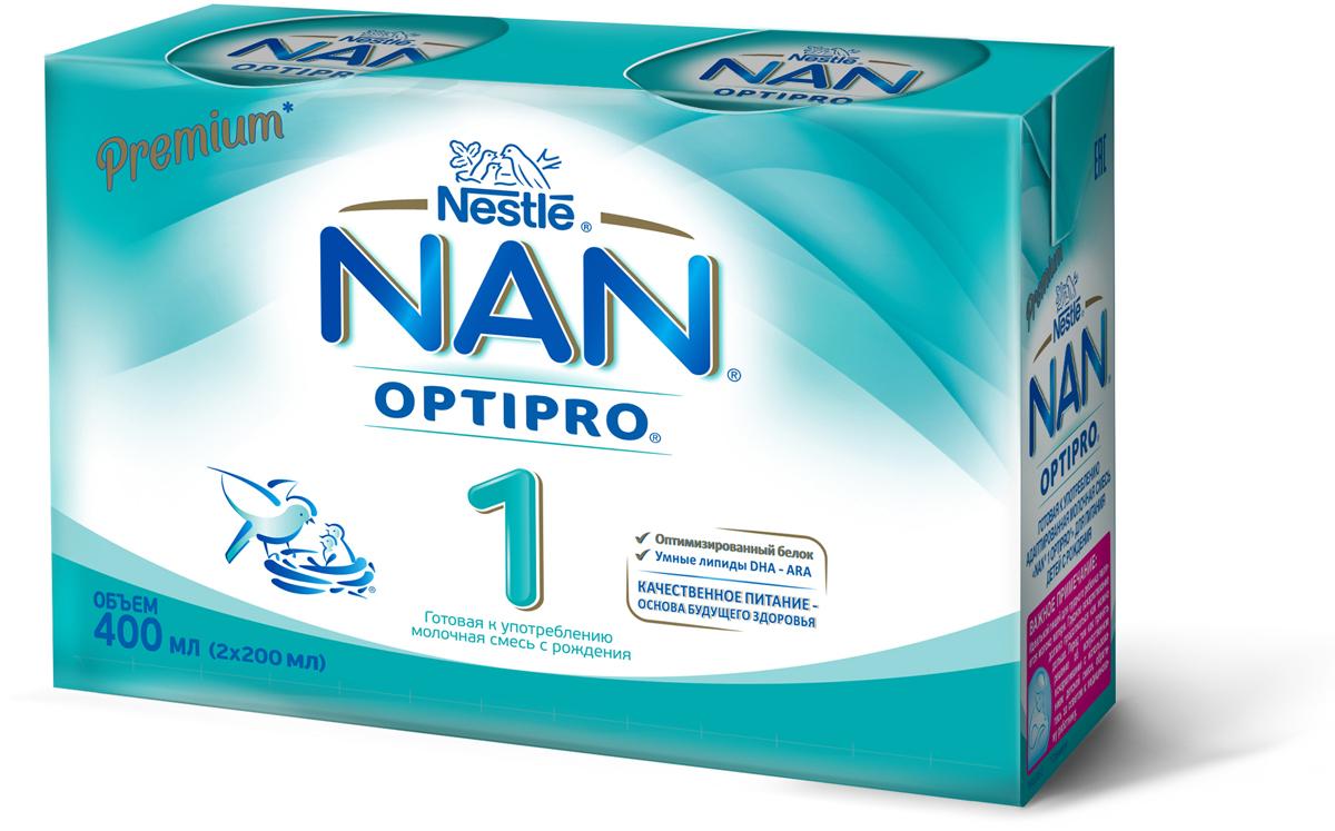 NAN 1 смесь готовая к употреблению молочная, с рождения, 2 шт по 200 мл nike nike fc manchester united 2014 15 stadium otc