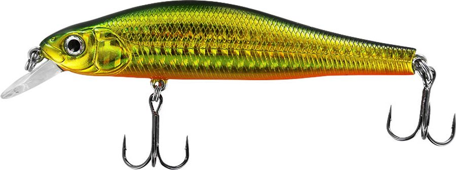 Воблер Tsuribito Jerkbait F, цвет: зеленый, серый, желтый (036), длина 105 мм, вес 13 г розетка lezard 701 0202 139
