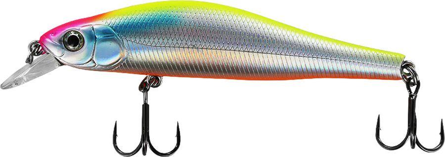 Воблер Tsuribito Jerkbait F, цвет: серебристый, оранжевый (057), длина 105 мм, вес 13 г22703Классическая форма и стабильная игра делает воблер Jerkbait 105F очень результативным. Он прекрасно работает как при равномерной проводке, так и при проводке с короткими рывками, имитирующими подраненную рыбку. При такой имитации даже сытая рыба не может устоять, так как это заложено на генетическом уровне.Какая приманка для спиннинга лучше. Статья OZON Гид