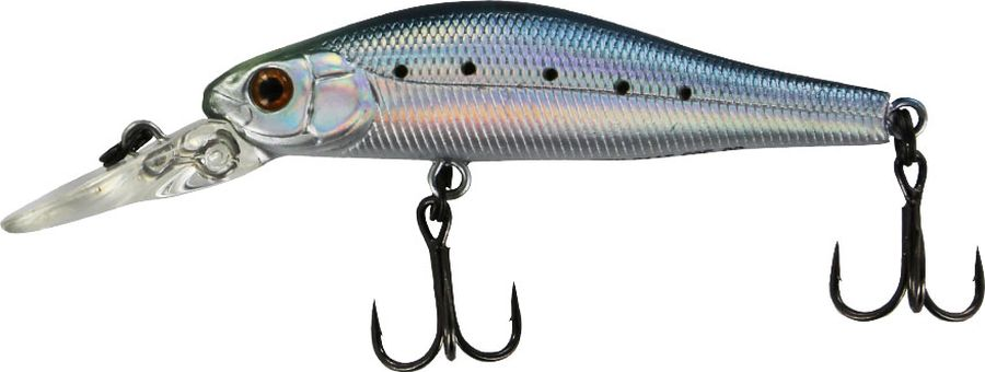 Воблер Tsuribito Jerkbait F-DR, цвет: голубой, серый (060), длина 50 мм, вес 3 г воблер jerkbait длина 5 см вес 3 г 50f dr 061