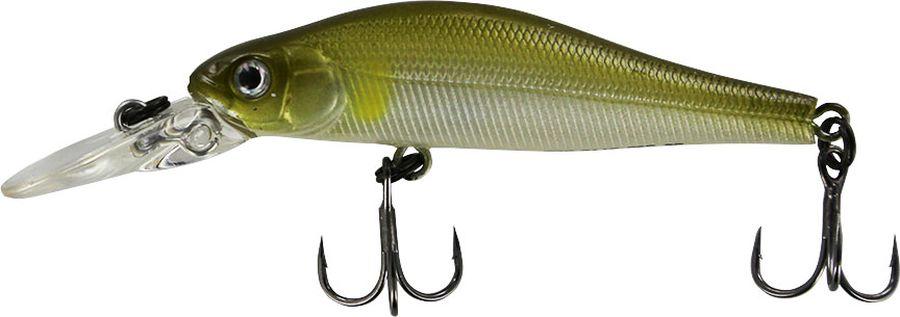 Воблер Tsuribito Jerkbait F-DR, цвет: серебристый, зеленый (066), длина 50 мм, вес 3 г воблер jerkbait длина 5 см вес 3 г 50f dr 061